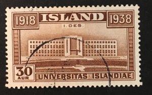 Iceland Sc. #210, used