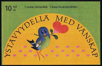 Finland 906a Booklet MNH Birds, Flowers