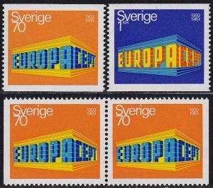 Sweden - 1969 - Scott #814-16 - MNH - Europa