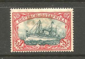 GERMAN EAST AFRICA 1905  3r  YACHT    MH   Sc 41a