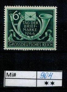 Deutschland Reich TR02 DR Mi 904 1940 Reich Postfrisch ** MNH