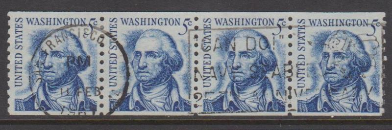 USA Sc#1304 Used Strip of 4