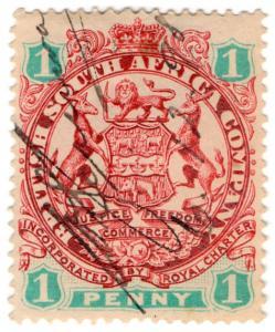 (I.B) Rhodesia/BSAC Revenue : Duty 1d