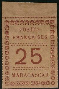 Madagascar Scott#11 Unused VF+ SCV$32.50...Tough stamp to find!