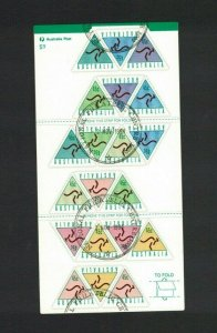 AD327) Australia 1994 Automatic Teller Machine Sheetlet CTO/Used
