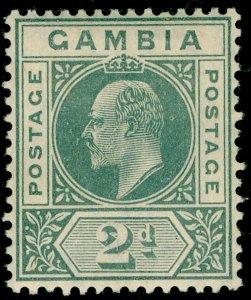GAMBIA SG74, 2d greyish slate, LH MINT.