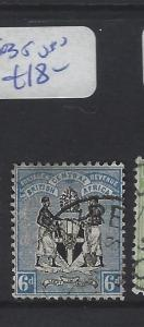 BRITISH CENTRAL AFRICA (PP1203B)  ARMS  6D  SG 35  VFU