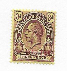 Turks & Caicos #MR6 MH CAT VALUE $15.00