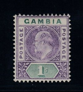 Gambia, SG 52 var, MLH Slotted Frame variety
