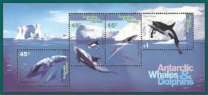 AAT 1995 Whales and Dolphins, MS, MNH L97a,SG MS112
