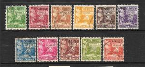 SAMOA  1921  HUT  PART SET 11   FU   SG 153/64