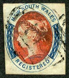 NSW 1856 (6d) for registered letters SG102/5 three good to large margins