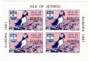 (I.B) Cinderella Collection : Jethou Island 6d (Europa 1961 Mini-Sheet)