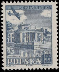 POLOGNE / POLAND - 1954 - Mi.859C 1,55Zl. Blue WROCŁAW - Mint*