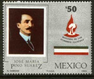 MEXICO 1461 Pino Suarez Rotunda of Illustrious Persons. MINT, NH. VF.