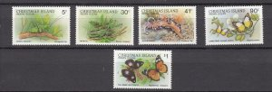 J28380, various 1987-89 christmas island part of set mnh wildlife #