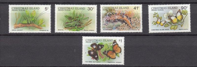 J28380, various 1987-89 christmas island part of set mnh wildlife #