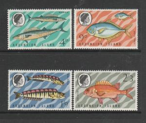 Ascension 1970 Fish, 3rd Series, all wmk Crown to left CA SG 126/9