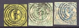 Thurn & Taxis #46,47,48 Used     Lakeshore Philatelics