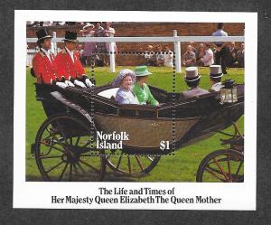 Norfolk Island 368 Mint NH MNH Souvenir Sheet Queen Mother!