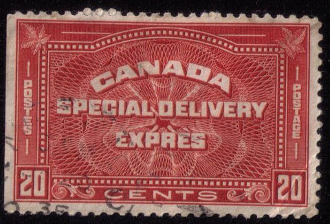 CANADA Sc #E4 Used SPECIAL DELIVERY EXPRESS Very Fine