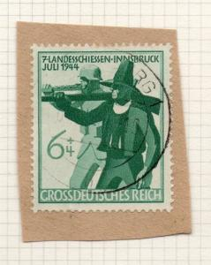 1944-45 GERMANY used in LUXEMBOURG Fine Used 6p. Postmark Piece 241826