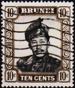 Brunei. 1952 10c. S.G.106 Fine Used