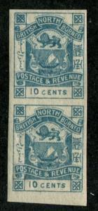 North Borneo SC# 43 Coat of Arms imperf pair 10c MH/MNH