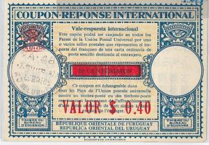 COUPON REPONSE  - London Model :  URUGUAY 1948