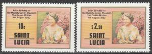 St Lucia #501-2  MNH  (K192)