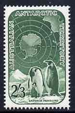 Australian Antarctic Territory 1959 Penguins 2s3d green u...
