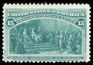 U.S. COLUMBIAN ISSUE 238  Mint (ID # 83303)