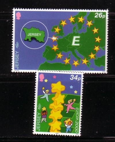 Jersey Sc 935-6 2000 Europa stamps NH