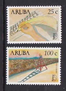 Aruba   #220-221  MNH   2002  America issue