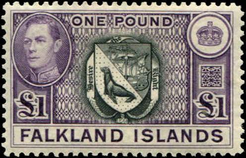 Falkland Islands SC#96 SG# 163 Arms of Colony 1 £  MMH