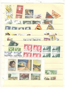 SWEDEN COLLECTION ON STOCK SHEET, MINT/USED