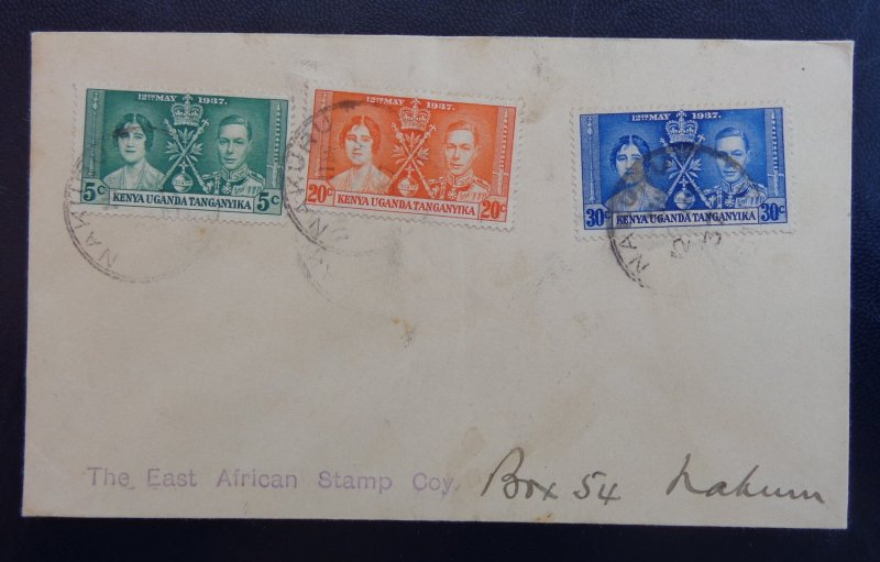 1937 - COVER, THE EAST AFRICAN STAMP COY -