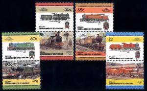 [63548] Bequia St. Vincent 1985 Railway Train Eisenbahn Chemin de Fer  MNH