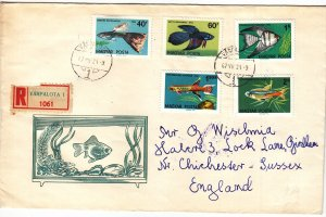 1962, Hungary to Sussex, England, Tropical Fish (S18895)