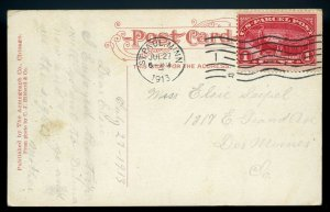 U.S. Scott Q1 Parcel Post Paying 1 Cent Rate on St. Paul, Minnesota Post Card