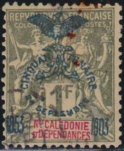 New Caledonia 1903 SC 80 Used