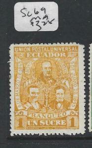 ECUADOR  (P0706B)   1S  SC 69   MOG