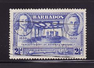 Barbados 205 U King Charles I, King Georgr VI