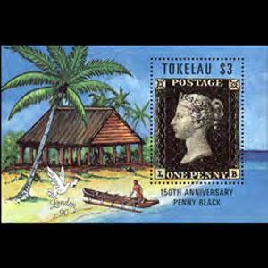 TOKELAU 1990 - Scott# 171 S/S Penny Black NH