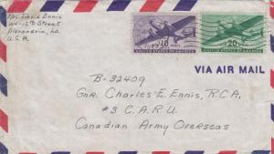 1943, Alexandria, VA to Canadian Army, CARU #3 (26659)