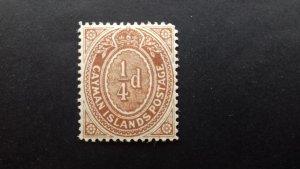 Cayman Islands 1908 Numeral Stamp Unused