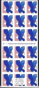 2598a Mint,OG,NH... Booklet Pane... SCV $11.00