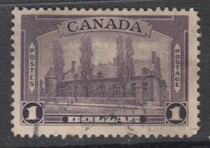Canada Scott #245  $1.00 Chateau de Ramezay 1938 Pictorial  F