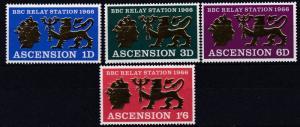 ASCENSION  1966    S G  103 - 106      RELAY STATION   SET    MNH