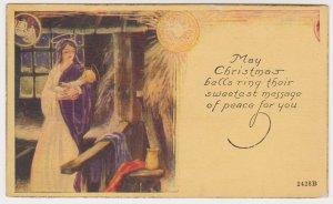 VINTAGE UNUSED CHRISTMAS POSTAL CARD